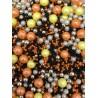 Mix perle negru-galben-portocaliu