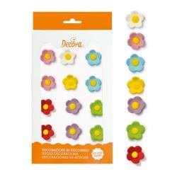 Flori multicolare din zahar