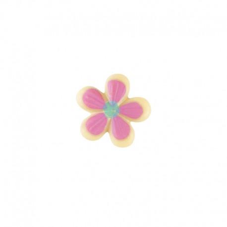 Floare rosacea din ciocolata