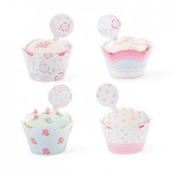 Set cupcakes wrappers - Fantasie Floreali