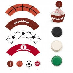 Set cupcakes wrappers - Sport